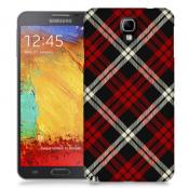 Skal till Samsung Galaxy Note 3 Neo - Rutig - Röd