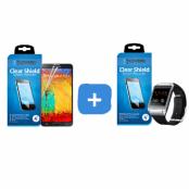 CoveredGear Clear skärmskydd till Samsung Galaxy Note 3 + Samsung Galaxy Gear