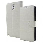 Croco Plånboksfodral till Samsung Galaxy Note 3 N9000 (Vit)