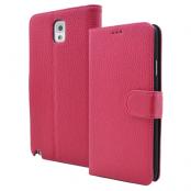 Embossed Plånboksfodral till Samsung Galaxy Note 3 N9000 (Magenta)