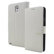 Embossed Plånboksfodral till Samsung Galaxy Note 3 N9000 (Vit)