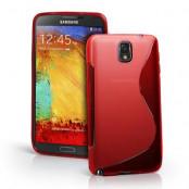 FlexiCase Skal till Samsung Galaxy Note 3 N9000 (Röd)