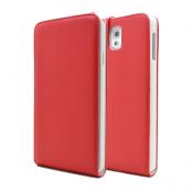 Flip mobilväska till Samsung Galaxy Note 3 N9000 (Röd)