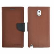 Mercury Fancy Diary Plånboksfodral till Samsung Galaxy Note 3 N9000 (Brun)