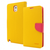 Mercury Fancy Diary Plånboksfodral till Samsung Galaxy Note 3 N9000 (Gul)
