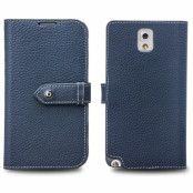 Qialino Exklusive Plånboksfodral till Samsung Galaxy Note 3 N9000 (Blå)