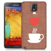 Skal till Samsung Galaxy Note 3 - I love coffe - Brun