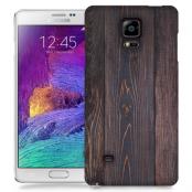 Skal till Samsung Galaxy Note 4 - Mörkbetsat trä