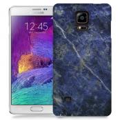 Skal till Samsung Galaxy Note 4 - Marble - Blå