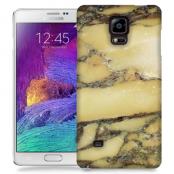 Skal till Samsung Galaxy Note 4 - Marble - Gul