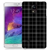 Skal till Samsung Galaxy Note 4 - Sömmar - Rutmönster Svart
