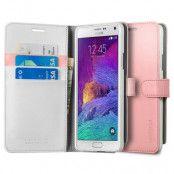 Spigen Wallet Plånboksfodral till Samsung Galaxy Note 4 - Rosa