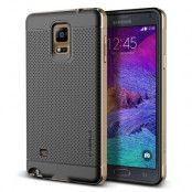Verus Iron Shield Aluminum Metal Frame Skal till Galaxy Note 4 - Gold