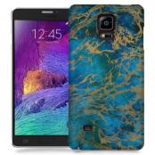 Skal till Samsung Galaxy Note Edge - Marble - Blå