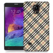 Skal till Samsung Galaxy Note Edge - Rutig diagonal - Beige