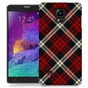 Skal till Samsung Galaxy Note Edge - Rutig - Röd