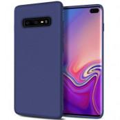 Twill Texture Flexicase Skal till Samsung Galaxy S10P - Blå