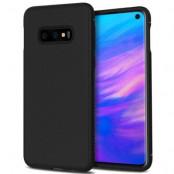 Twill Texture Flexicase Skal till Samsung Galaxy S10P - Svart