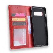 Vintage Plånboksfodral till Samsung Galaxy S10 Plus - Röd