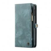 Caseme Plånboksfodral av läder Samsung Galaxy S10 - Blå