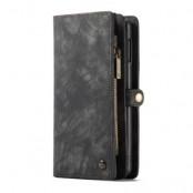 Caseme Plånboksfodral av läder Samsung Galaxy S10 - Grå