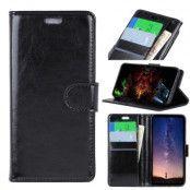Crazy Horse Plånboksfodral till Samsung Galaxy S10 - Svart