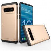 Hybrid Armor med Kortplats till Samsung Galaxy S10 - Guld