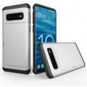 Hybrid Armor med Kortplats till Samsung Galaxy S10 - Silver