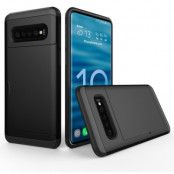 Hybrid Armor med Kortplats till Samsung Galaxy S10 - Svart