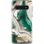 iDeal of Sweden Fashion Case Samsung Galaxy S10 - Golden Jade Marble