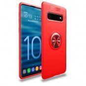 Magnetiskt Skal med Ring för Samsung Galaxy S10 - Röd
