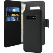 Puro EcoLeather Wallet Detach till Samsung Galaxy S10+ - Svart