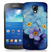 Skal till Samsung Galaxy S5 Active - Blå blommor
