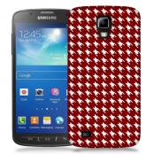 Skal till Samsung Galaxy S5 Active - Mönstrat tyg - Röd