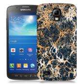 Skal till Samsung Galaxy S5 Active - Marble - Svart/Guld