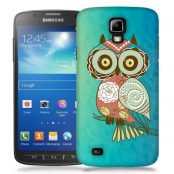 Skal till Samsung Galaxy S5 Active - Orientalisk uggla - Blå
