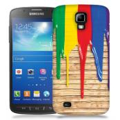 Skal till Samsung Galaxy S5 Active - Rinnande färg - Trä