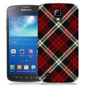 Skal till Samsung Galaxy S5 Active - Rutig - Röd