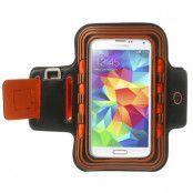 Armband med blinkande lampor till Samsung Galaxy S5 - Orange