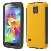 Combo Skal med inbyggd skärmskydd till Samsung Galaxy S5 (Gul)