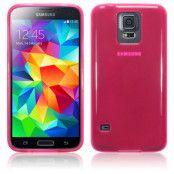 Gel FlexiSkal till Samsung Galaxy S5 - Magenta