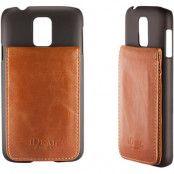 iDeal Smart Case, plastskal för Samsung Galaxy S5, 3 kortplatser, svart/brun