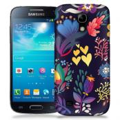Skal till Samsung Galaxy S5 Mini - Retro blommor