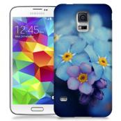Skal till Samsung Galaxy S5 - Blå blommor