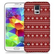 Skal till Samsung Galaxy S5 - Juldekor - Röd/Vit