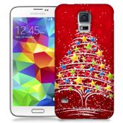 Skal till Samsung Galaxy S5 - Julgran - Röd