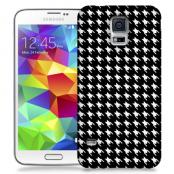 Skal till Samsung Galaxy S5 - Mönstrat tyg - Svart