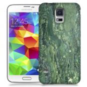 Skal till Samsung Galaxy S5 - Marble - Grön