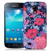 Skal till Samsung Galaxy S5 Mini - Blommor - Svart