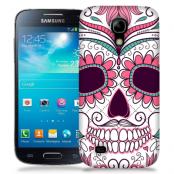 Skal till Samsung Galaxy S5 Mini - Glad dödskalle - Rosa